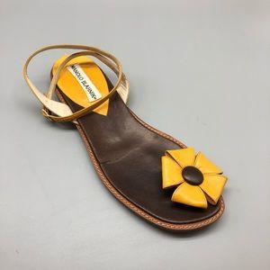 Manolo Blahnik right shoe only flower sandal
